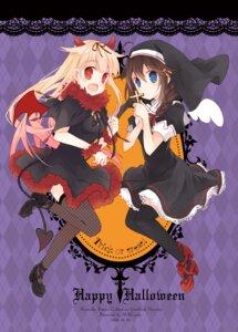 Rating: Safe Score: 20 Tags: cosplay devil dress fishnets halloween heels horns kantai_collection nun shigure_(kancolle) suzushiro_kurumi tail thighhighs wings yuudachi_(kancolle) User: fairyren