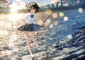 Rating: Safe Score: 211 Tags: 5_nenme_no_houkago kantoku see_through seifuku shizuku_(kantoku) skirt_lift wet User: Hatsukoi