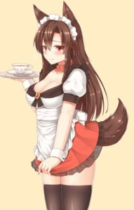 Rating: Safe Score: 60 Tags: animal_ears cleavage imaizumi_kagerou maid see_through tail thighhighs touhou waitress yuu_(yu0221f) User: Mr_GT