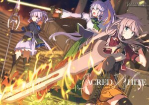 Rating: Safe Score: 27 Tags: anceril_sacred ciel_sacred heterochromia mishima_kurone sword thighhighs weapon User: fireattack
