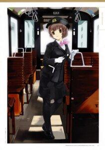 Rating: Safe Score: 5 Tags: jpeg_artifacts mibu_natsuki pantyhose screening takano_miyuki tetsudou_musume uniform User: hirosan