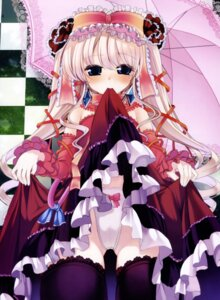 Rating: Questionable Score: 31 Tags: lolita_fashion pantsu skirt_lift thighhighs waki User: syaoran-kun