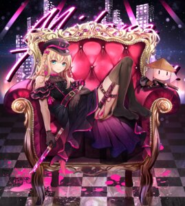 Rating: Questionable Score: 24 Tags: abandon_ranka garter midare_toushirou pantsu skirt_lift thighhighs thong touken_ranbu trap weapon User: Dreista