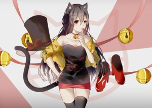 Rating: Safe Score: 27 Tags: animal_ears cleavage nekomimi tail thighhighs vocaloid weitu yuezheng_ling User: mattiasc02