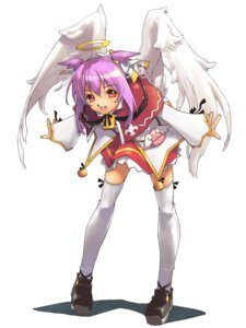 Rating: Safe Score: 8 Tags: angel ciel_(spectral_souls) gakuen_toshi_vara_noir hirano_katsuyuki idea_factory seifuku thighhighs wings User: Radioactive