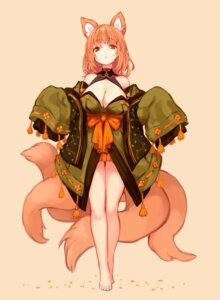 Rating: Questionable Score: 54 Tags: animal_ears japanese_clothes kitsune no_bra sukemyon tail User: Dreista