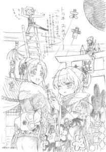 Rating: Safe Score: 4 Tags: aisaka_taiga kawashima_ami kimono monochrome nakano_ryouko sketch toradora! User: superogira