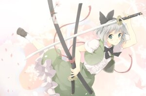 Rating: Safe Score: 28 Tags: konpaku_youmu sword touhou yoshino_ryou User: fairyren