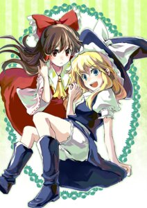 Rating: Safe Score: 4 Tags: bloomers hakurei_reimu kirisame_marisa sigina touhou User: Radioactive