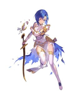 Rating: Questionable Score: 22 Tags: armor breast_hold catria dress fire_emblem fire_emblem_echoes fire_emblem_heroes kakage nintendo sword thighhighs torn_clothes User: fly24