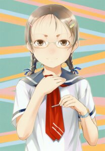 Rating: Safe Score: 12 Tags: megane seifuku sleeve sody User: petopeto