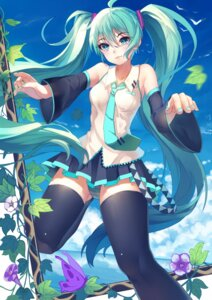 Rating: Safe Score: 36 Tags: baisi_shaonian hatsune_miku pantsu shimapan thighhighs vocaloid User: Mr_GT
