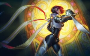 Rating: Safe Score: 8 Tags: armor bodysuit fiora league_of_legends sword tagme thighhighs User: samuelp