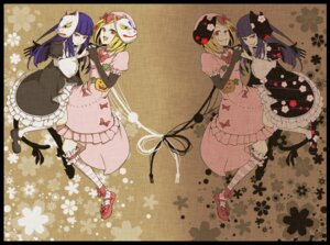 Rating: Safe Score: 18 Tags: frederica_bernkastel garter lambdadelta lolita_fashion saya6382 tail umineko_no_naku_koro_ni User: Radioactive