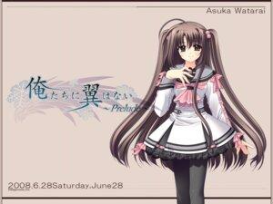 Rating: Safe Score: 9 Tags: nishimata_aoi oretachi_ni_tsubasa_wa_nai wallpaper watarai_asuka User: Davison