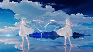 Rating: Safe Score: 28 Tags: dress luo_tianyi skirt_lift summer_dress tid vocaloid User: Mr_GT