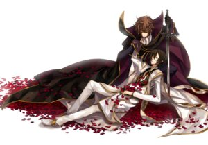 Rating: Questionable Score: 12 Tags: code_geass kururugi_suzaku lelouch_lamperouge male osamu User: Syko83