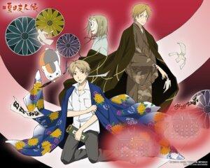 Rating: Safe Score: 4 Tags: calendar hiiragi horns kimono male megane natori_shuuichi natsume_takashi natsume_yuujinchou neko nyanko wallpaper User: Devard