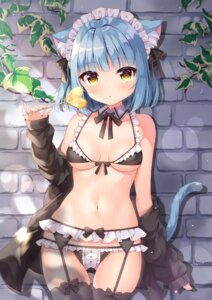 Rating: Questionable Score: 65 Tags: animal_ears bra cameltoe garter_belt lingerie maid nekomimi open_shirt pantsu siooooono stockings tail thighhighs User: BattlequeenYume