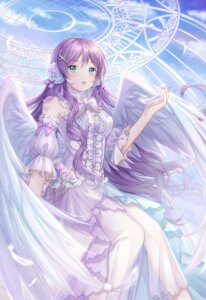 Rating: Safe Score: 20 Tags: cup_(13636466299) dress love_live! see_through toujou_nozomi wings User: Mr_GT