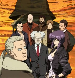 Rating: Safe Score: 9 Tags: aramaki_daisuke batou boma business_suit cleavage eyepatch ghost_in_the_shell ishikawa kusanagi_motoko leotard open_shirt pazu saito togusa warai_otoko User: hyde333