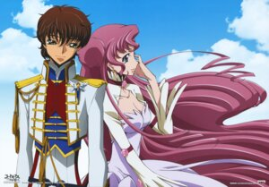 Rating: Safe Score: 14 Tags: cleavage code_geass dress euphemia_li_britannia itagaki_atsushi kururugi_suzaku uniform User: Radioactive