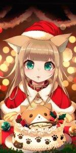 Rating: Safe Score: 19 Tags: 40hara animal_ears christmas cream kinako_(40hara) nekomimi User: Dreista
