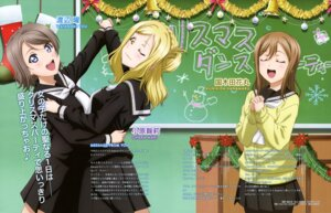 Rating: Safe Score: 27 Tags: christmas kunikida_hanamaru love_live!_sunshine!! ohara_mari pantyhose seifuku suzuki_isamu sweater watanabe_you User: drop