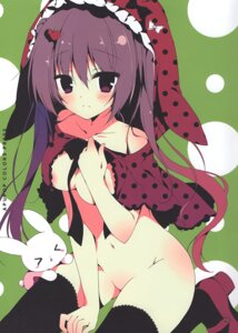 Rating: Questionable Score: 39 Tags: apupop areola breast_hold heels muku_(apupop) naked_cape thighhighs User: Radioactive