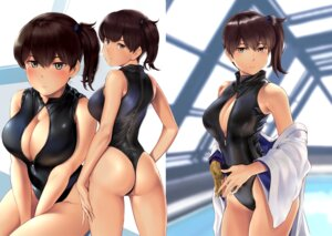 Rating: Safe Score: 52 Tags: ass breast_hold cleavage kaga_(kancolle) kantai_collection open_shirt swimsuits wa_(genryusui) User: Spidey