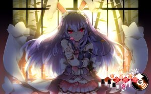 Rating: Safe Score: 29 Tags: animal_ears bunny_ears kazetto reisen_udongein_inaba touhou wallpaper User: Mr_GT