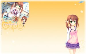 Rating: Safe Score: 23 Tags: alia's_carnival!_flowering_sky chibi koikawa_shiho nanao_naru seifuku wallpaper User: fairyren