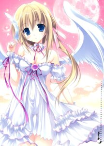 Rating: Questionable Score: 129 Tags: angel calendar cleavage dress karory wings User: Twinsenzw