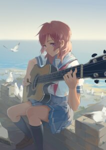 Rating: Safe Score: 52 Tags: guitar huanxiang_heitu love_live! nishikino_maki seifuku User: sylver650