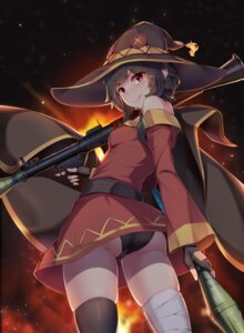 Rating: Questionable Score: 51 Tags: ass bandages cameltoe dress kono_subarashii_sekai_ni_shukufuku_wo! megumin pantsu sgt-jz thighhighs witch User: Mr_GT