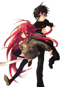 Rating: Safe Score: 13 Tags: ito_noizi sakai_yuuji scanning_resolution screening seifuku shakugan_no_shana shana sword thighhighs User: 月无名