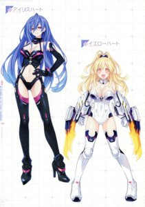 Rating: Questionable Score: 26 Tags: choujigen_game_neptune iris_heart kami_jigen_game_neptune_v tsunako yellow_heart User: Radioactive