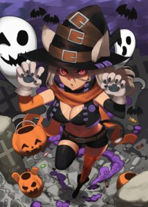 Rating: Safe Score: 34 Tags: animal_ears cleavage halloween hood_(james_x) nekomimi tail thighhighs witch User: Mr_GT