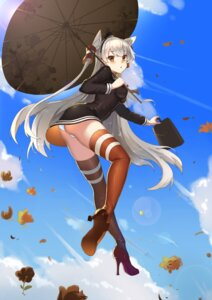 Rating: Questionable Score: 60 Tags: amatsukaze_(kancolle) ass heels kantai_collection pantsu sunshine thighhighs umbrella User: Mr_GT
