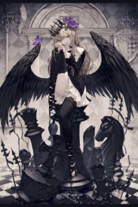 Rating: Safe Score: 58 Tags: thighhighs wanke wings User: Cold_Crime