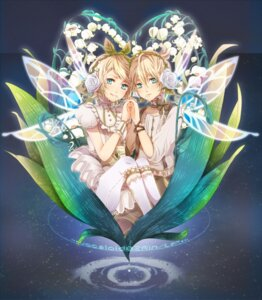 Rating: Safe Score: 25 Tags: dress ica_ditte kagamine_len kagamine_rin vocaloid wings User: MadMan