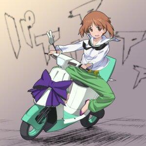Rating: Questionable Score: 6 Tags: a1 girls_und_panzer initial-g nishizumi_miho seifuku User: NotRadioactiveHonest
