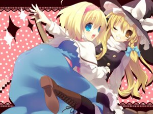 Rating: Safe Score: 6 Tags: alice_margatroid kirisame_marisa nekoiro touhou User: Radioactive