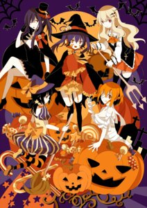 Rating: Questionable Score: 11 Tags: bandages halloween sumi_mi thighhighs witch User: shebang