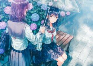 Rating: Safe Score: 44 Tags: hiten hitenkei seifuku umbrella wet wet_clothes User: Humanpinka