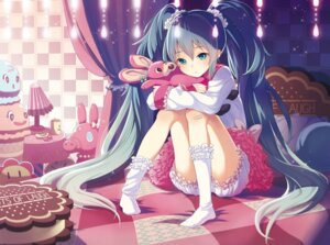 Rating: Safe Score: 95 Tags: bloomers hatsune_miku lots_of_laugh_(vocaloid) shiroji vocaloid User: aihost