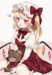 Rating: Safe Score: 11 Tags: cleavage flandre_scarlet pointy_ears touhou wings youtan User: Dreista