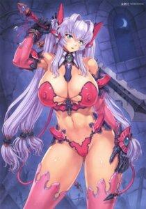 Rating: Questionable Score: 26 Tags: bikini_armor cameltoe erect_nipples mogudan sword tail thighhighs User: kiyoe