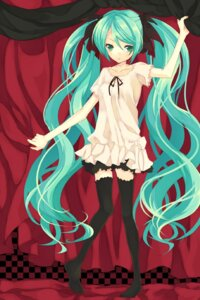 Rating: Safe Score: 24 Tags: dress hatsune_miku reitei thighhighs vocaloid world_is_mine_(vocaloid) User: yumichi-sama