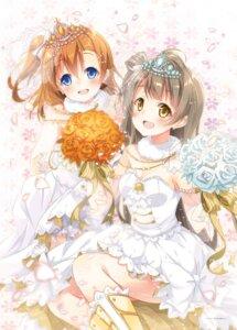 Rating: Safe Score: 46 Tags: cleavage dress kousaka_honoka love_live! minami_kotori mocha_(naturefour) wedding_dress User: fairyren
